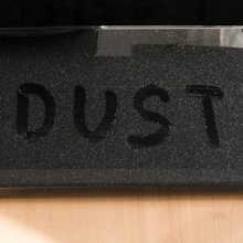 Dust on furniture