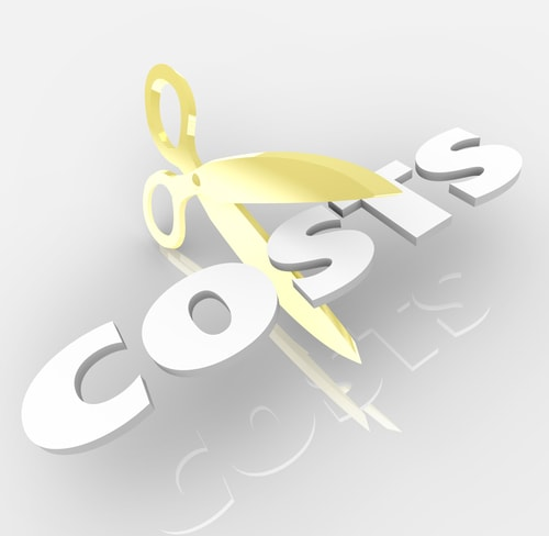Cut Costs with Scissors Cutting Word