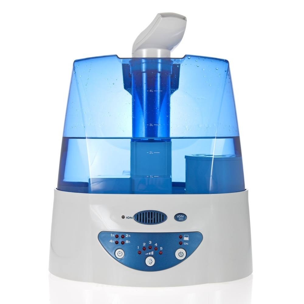 Humidifier with ionic air purifier isolated on white background