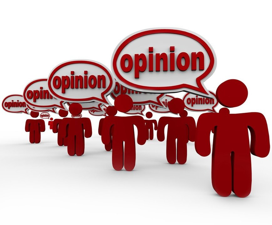 Many People Sharing Opinions Critics Talking Word Opinion