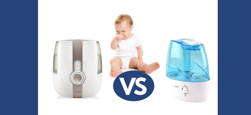 FEATURE IMAGE - HUMIDIFIER VS VAPORIZER FOR BABY CONGESTION
