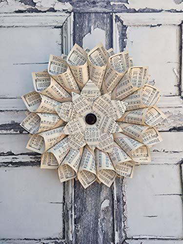 Music Page Wreath