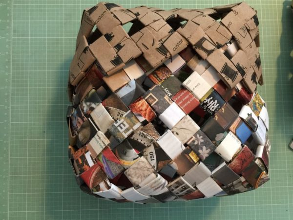 Recycled Junk Mail Basket