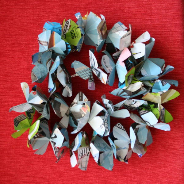 Recycled Paper Leis