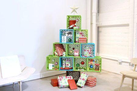 Milk Crate Christmas Tree
