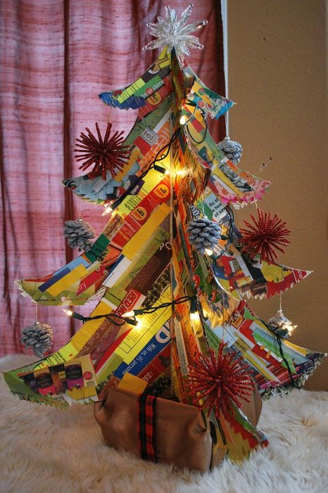 Junk Mail Christmas Tree