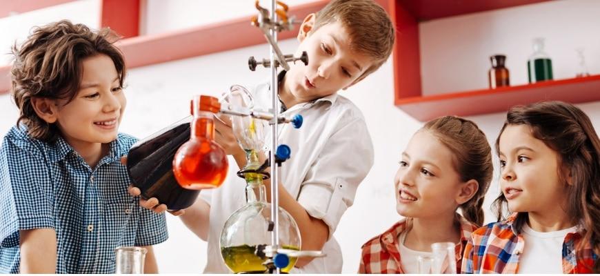 Children Experimenting