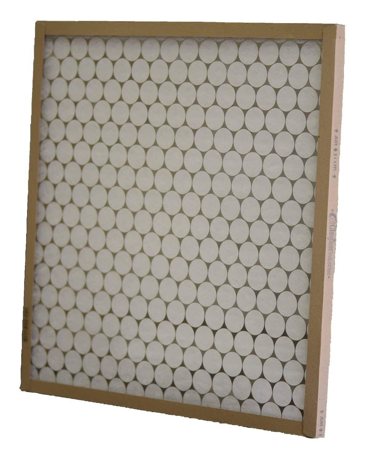 Glasfloss Industries PTA16251 PTA Series Heavy Duty Disposable Panel Air Filter in white background