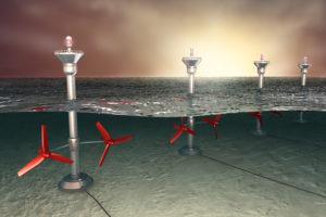 Tidal energy illustration