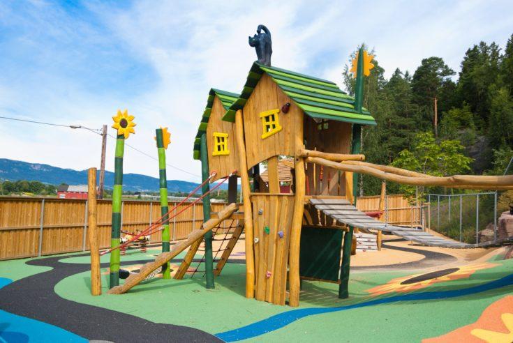 Big colorful children playground equipment